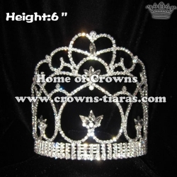 6inch Wholesale Crystal Queen Crowns