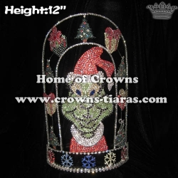 12in Height Crystal Grinch Christmas Pageant Crowns