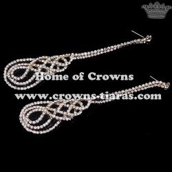 Wholesale High Quality Gold Rhinestone Earrings