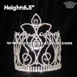 Wholesale 6in Height Rhinestone Queen Crowns