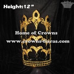 12inch Wholesale Crystal Fleur De Lis Pageant Crowns