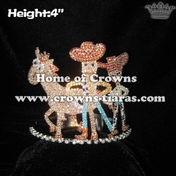 King Crown Prince Crown With Cowboy And Horse