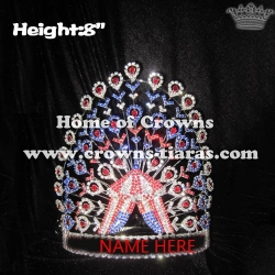 8in Height Circus Tent Pageant Crowns With Peacocks