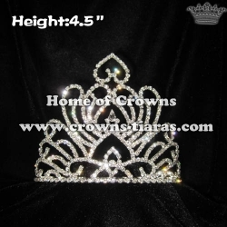 4.5in Height Crystal Stock Crowns Princess Crowns