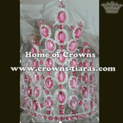 10in Crystal Rhinestone Pageant Queen Crowns Stock Crowns