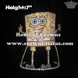 7in Height Custom Crystal Spongebob Pageant Crowns