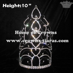 10inch Heart Crystal Pageant Crowns