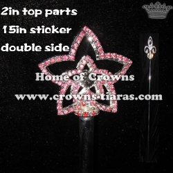 Crystal Pageant Scepter--Double Side