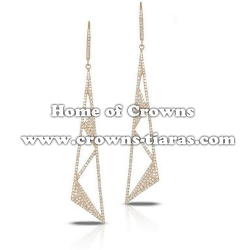 Fashion Alloy Crystal Wedding Earrings