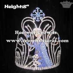 8in Frozen Crystal Rhinestone Pageant Crowns