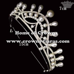Small Wedding Bridal Tiaras With Pearls