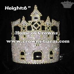 6inch Castle Crystal Rhinestone Crown