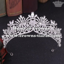 Crystal Bridal Crowns With Green Diamonds