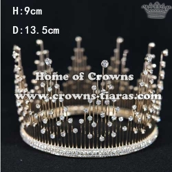 Full Round Crystal Wedding Crowns With Diamonds