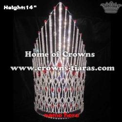 Large Crystal Rhinestone Pageant Diamond Crowns