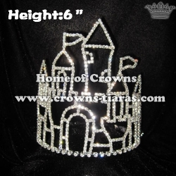 6inch Castle Frame Crystal Pageant Crowns