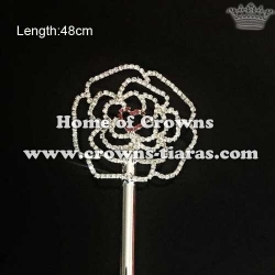 Rhinestone Rose Shaped Valentines Love Scepters