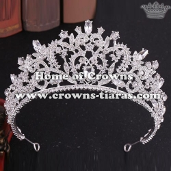 Wholesale Wedding Heart Crowns With Green Diamonds