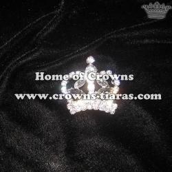 Wholesale Crystal Crown Sash Pins
