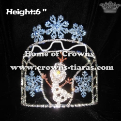 Custom Crystal Snowflake Olaf Pageant Crowns