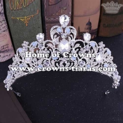 Unique Alloy Diamond Wedding Tiaras With Handmade Crystal