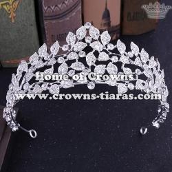 Crystal Flower Shaped Wedding Tiaras