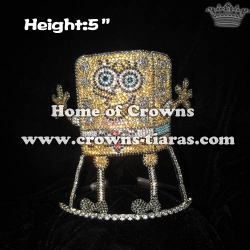 Wholesale Rhinestone Spongebob Pageant Crowns