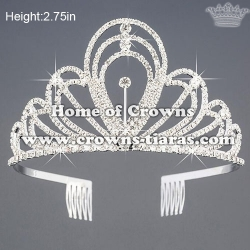 2.75in Height Small Crystal Princess Crowns
