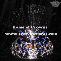 Butterfly Shaped Lighting Shinny Pageant Crowns