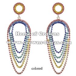 Mulit-color Crystal Rhinestone Fashion Earrings