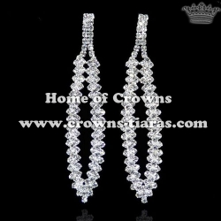 Rhinestone Bridal Earrings With Diamonds