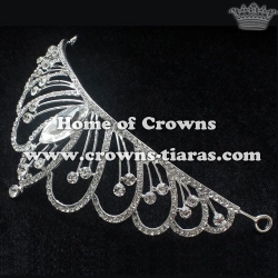Crystal Bridal Tiaras With Big Diamonds