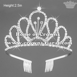 Classic Silver Crystal Pageant Queen Tiaras