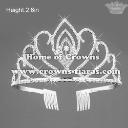 Small Crystal Rhinestone Tiaras With Combs