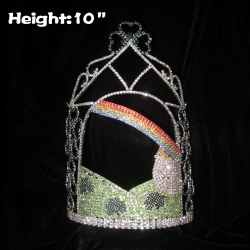 Wholesale Custom Crystal Clover Pageant Crowns