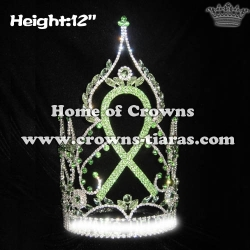 12in Big Tall Custom Pageant Ribbn Crowns