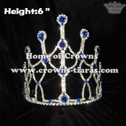 6inch Blue Green Diamond Crystal Pageant Crowns