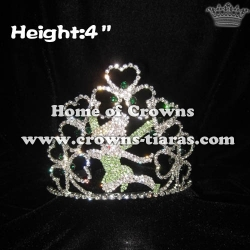 Crystal Fairy Pageant Crowns With Green Diamonds