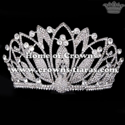 Crystal Peacock Pageant Crowns With Wings