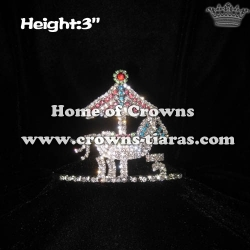 Wholesale Merry Go Crystal Horse Princess Crowns