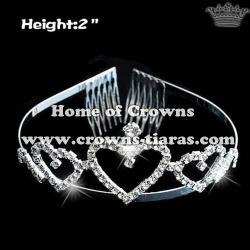 Crystal Heart Shaped Princess Tiaras