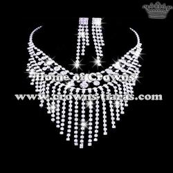 Wholesale Fashion Rhinestone Bridal Necklace Sets