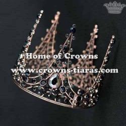 Crystal Full Round Birthday Cake Crown With Diamonds