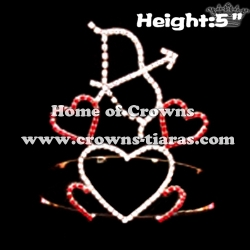 Custom Arrow of Cupid Heart Shaped Valentines Crown