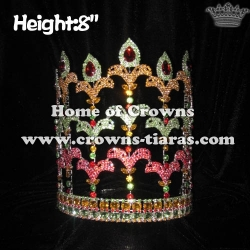 Crystal Rhinestones Fleur De Lis Crowns