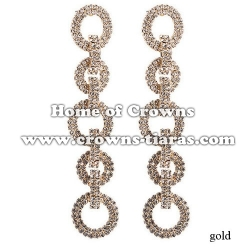 Fashion Rhinestone Bridal Queen Earrings