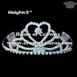 Heart Shaped Rhinestone Pageant Tiaras