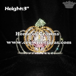 Pumpkin Crystal Wholesale Rhinestone Crowns