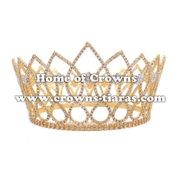 Large Rhinestone Full Round Pageant Queen Crowns