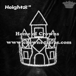 8inch Pageant Princess Castle Crowns